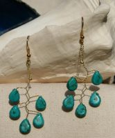 Turquoise gold vine drop by the-twisted-vine