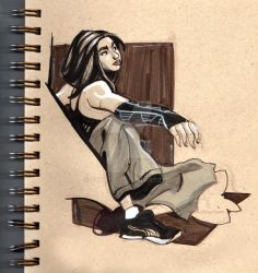 Brown Paper Girl by Stnk13