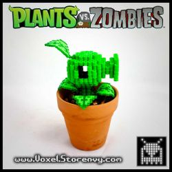 Peashooter (Plants vs. Zombies) by VoxelPerlers