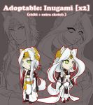 ADOPTABLES: Inugami x2 [SOLD] by Zue