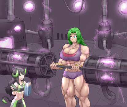 Training at Banshea's Gym (Comm) by SheepApp