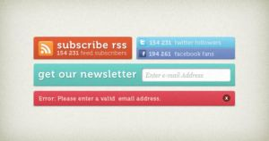 Editable Free Social Media Buttons Download PSD by Designhub719