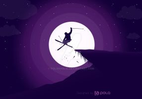 The Skier Man by PolaKhalil