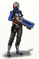 Lady Soldier 76 by SteveNoble197