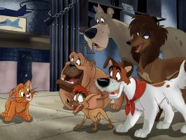 Oliver And Company remade picture by JustSomePainter11