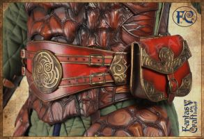 Leather dragon armor by Fantasy-Craft