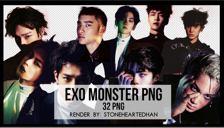 EXO Monster PNG Pack by StoneHeartedHan