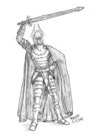 Armored knight with sword by parsek76