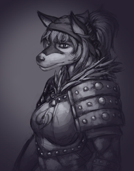 Dnd character sketch commission by Luckeux