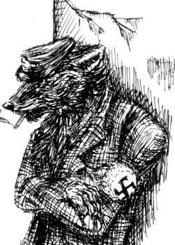 Nazi Wolf by SagerVolcan