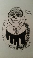 Inktober Day 1: Patrick Stump (Fall Out Boy) by Kittygoesrawrrr