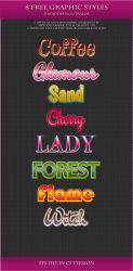 FREE Graphic Styles for AI  #24-25-26-27 by Love-Kay
