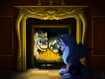Print: The Filly in the Fireplace by Shrineheart