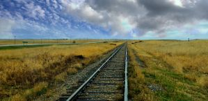 Railway Tracks Stock by mindym306