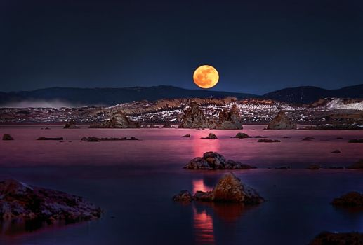 And With His Eye the Moon Beheld the Tufas II by AugenStudios