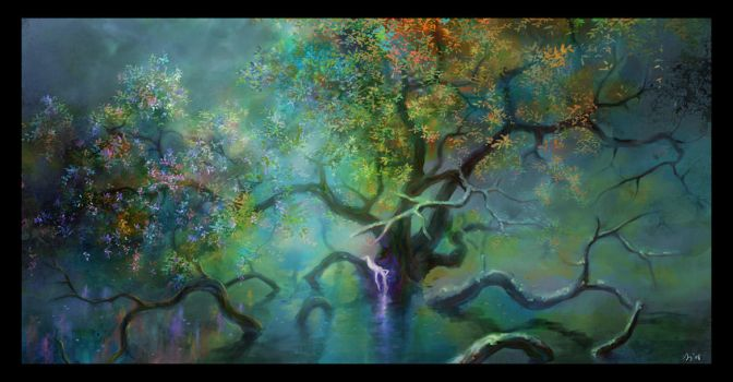 Eternal Tree - with flowers by keiiii