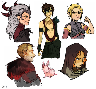 dragon age doodles by senpeep