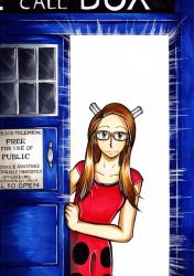 The Girl in the Tardis by Smudgeandfrank