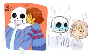 Sans and Frisk by La-Emperatriz