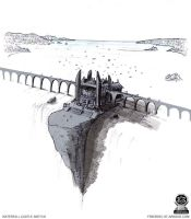 Waterfall Castle Sketch by fstarno
