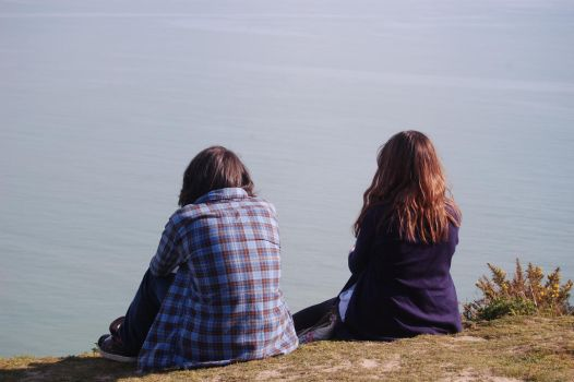 Brother and Sister Looking at The Sea by XHarmonySpiritX