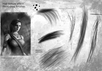 Hair texture effect Photoshop brushes by brushbitch