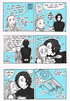 Star Wars Reylo Rey Bday Comic by Nekokoro-chan
