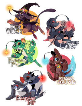 ...Halloween Luminauts... Adopts // 1/5 OPEN by Traumlaterne