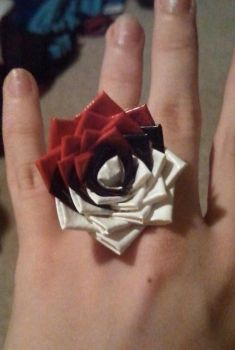 Duct Tape Pokeball Ring by LKYPG13