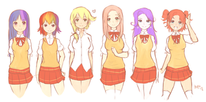 SA: characters lineup [OUTDATED] by derpiihooves