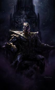 The Avengers- Thanos by andyparkart