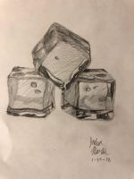 Quick Drawing: Ice Cubes by AquaticJM