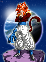 Gogeta Super Saiyan 4 - Dragon Ball GT by ChronoFz