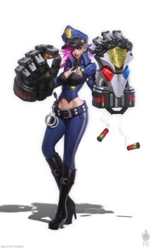 Officer Vi Concept Art by Zeronis
