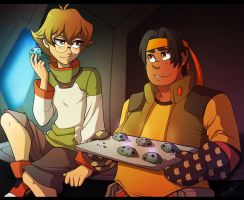 Hunk And Pidge by Pocki07