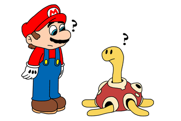 Request - Mario meets Shuckle by MarcosPower1996