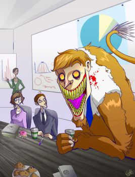 The Working Manticore by Buuya