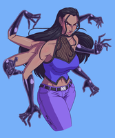 Nico Robin haki by xMrNothingx