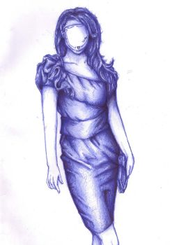 Ballpoint model by LaVixen