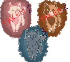 Kitty Adoptables ! [1/3] [20 POINTS] by Tranqiluity