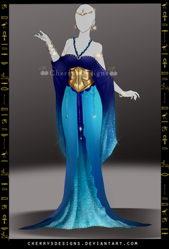 (closed) Outfit Adopt 714 - Nekhbet by CherrysDesigns