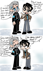 Lieutenant Connor And Hank The Savage Android by thegreatrouge