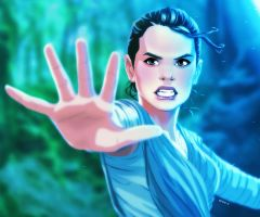 Rey Awakens by EddieHolly