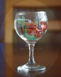 Ariel in a Glass by Seika-Art