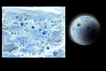 Cell planet 033018A ice planet by Casperium