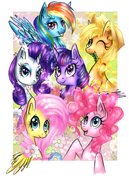 ~: The Mane 6 :~ by Giumbreon4ever