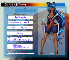 Legacy Academy Student App:  Enyo Sinorydex by Vioqueen