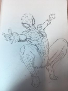 Work doodles Spider  by TheMoore