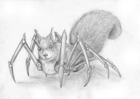 Spider Squirrel by Foxia