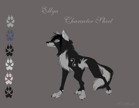 Ellya Character sheet cameo by hecatehell